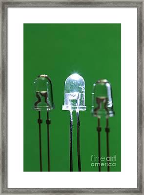 Light-emitting Diodes Framed Print by GIPhotoStock