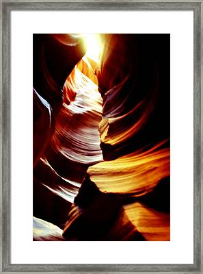 Light From Above - Canyon Abstract Framed Print by Aidan Moran