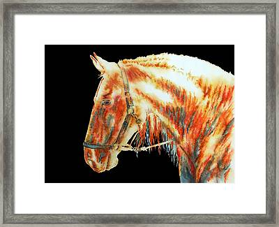 Element Light Horse In Black Framed Print by Jose Espinoza