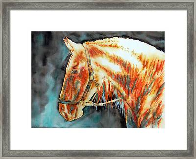 Element Light Horse Framed Print by Jose Espinoza