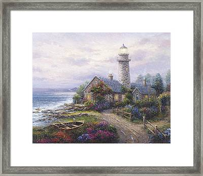 Light House Framed Print by Ghambaro