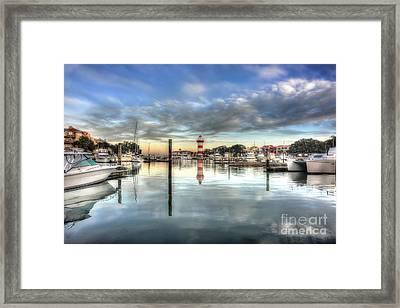 light house harbour town Hilton Head Framed Print by Dan Friend