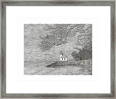Light House On San Juan Island Lime Point Lighthouse Framed Print by Jack Pumphrey