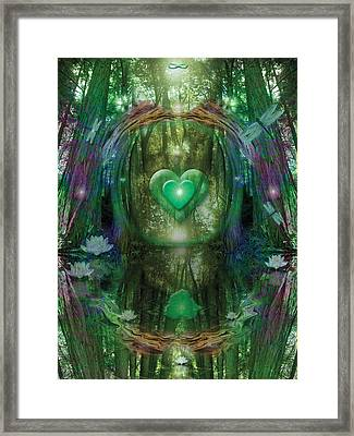 Light In The Forest Framed Print by Alixandra Mullins