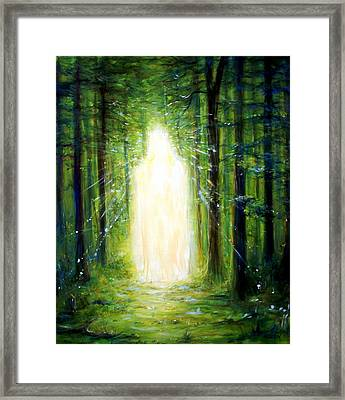 Light In The Garden Framed Print by Heather Calderon