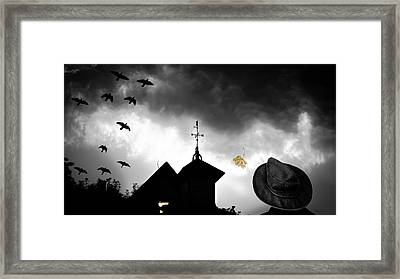 Light In The Window Framed Print by Bob Orsillo