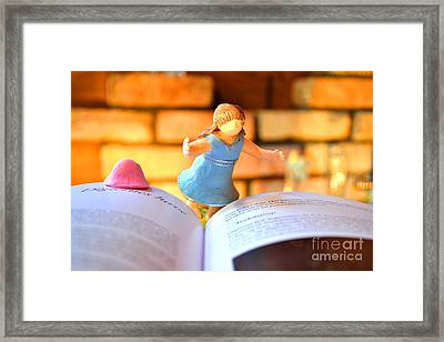 Light Museum Book Framed Print by Terumi Wago