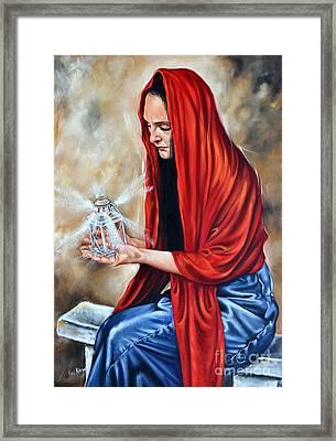 Light My Candle Framed Print by Ilse Kleyn