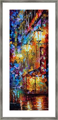 Light Of Night Framed Print by Leonid Afremov
