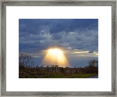 Light Of The Heavens Framed Print by Misty Dawn Seidel