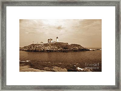 Light On The Nubble Framed Print by Skip Willits