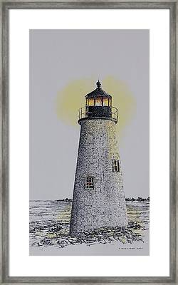 Light On The Sound Framed Print by Tony Ruggiero