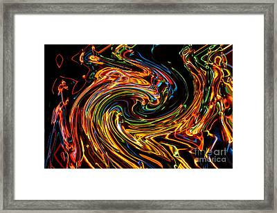 Light Painting 2 Framed Print by Delphimages Photo Creations