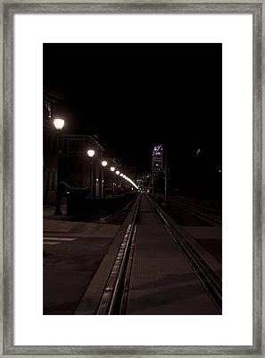 Light Rail Framed Print by Doug Hubbard