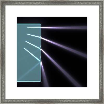 Light Refraction And Internal Reflection Framed Print by Russell Kightley