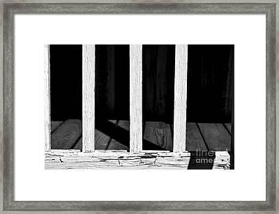 Light Shadows Weathered Framed Print by JW Hanley