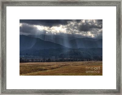 Light Shower Framed Print by Douglas Stucky