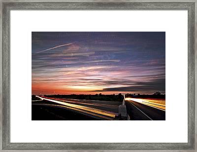 Light Speed Sunset Framed Print by Matt Molloy