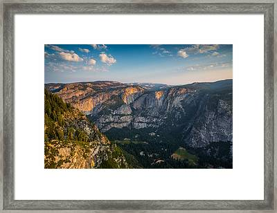 Light Unto The Valley Framed Print by Mike Lee