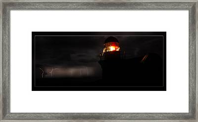 Lighted Lighthouse Framed Print by Andrew Prince
