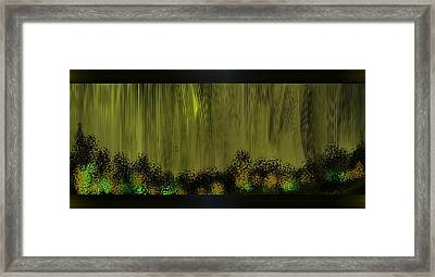 Lighted Path Framed Print by Len YewHeng