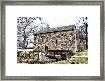 Lightfoot Mill At Anselma Chester County Framed Print by Bill Cannon