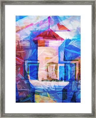 Lighthouse Abstraction Framed Print by Lutz Baar