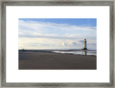 Lighthouse At Talacre Framed Print by Spikey Mouse Photography