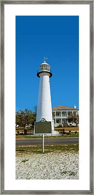 Lighthouse At The Roadside, Biloxi Framed Print by Panoramic Images