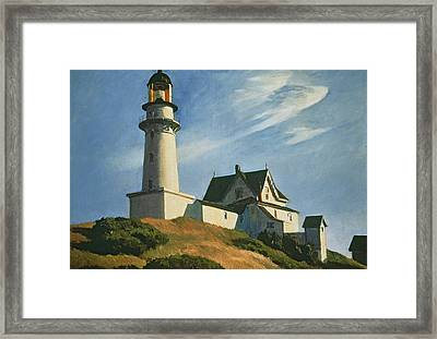 Lighthouse At Two Lights Framed Print by Edward Hopper