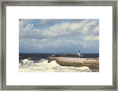 Lighthouse At Whitehaven Framed Print by Amanda And Christopher Elwell