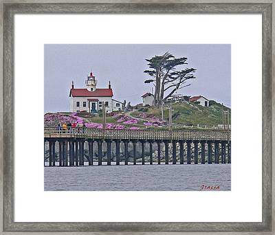 Attraction. Battery Point Lighthouse Framed Print featuring the photograph Lighthouse Beauty by Gracia  Molloy
