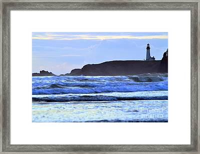 Lighthouse Blues Framed Print by Sheldon Blackwell