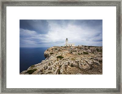 Lighthouse Caballeria Framed Print by Antonio Macias Marin