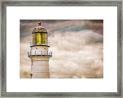 Lighthouse Cape Elizabeth Maine Framed Print by Bob Orsillo