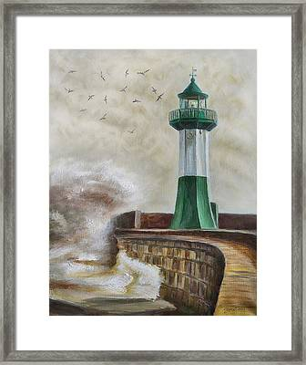 Lighthouse Framed Print by Gynt Art