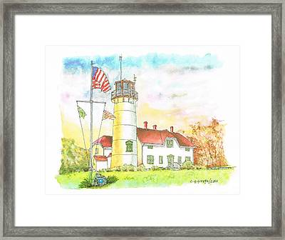 Lighthouse In Cape Code - Massachussetts Framed Print by Carlos G Groppa