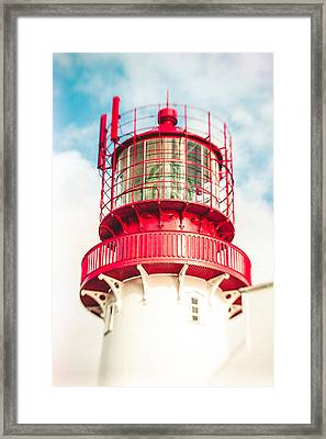 Lighthouse In The Sky Framed Print by Mirra Photography