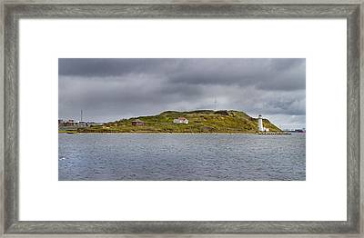 Lighthouse Island Framed Print by Betsy C Knapp