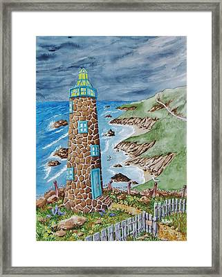 Lighthouse Framed Print by Katherine Young-Beck