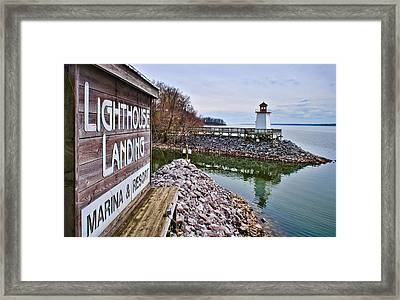 Lighthouse Landing Inlet Framed Print by Greg Jackson