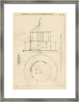 Lighthouse Lantern Drawing Framed Print by Jerry McElroy - Public Domain Image