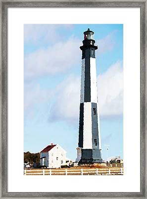 Lighthouse Living - New Cape Henry Lighthouse Framed Print by Gregory Ballos