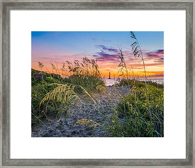 Lighthouse Lookout Framed Print by Steve DuPree