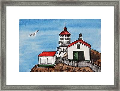 Lighthouse Framed Print by Masha Batkova