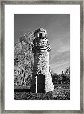 Lighthouse Of Stone Framed Print by Kathleen Struckle