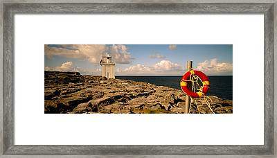 Lighthouse On A Landscape, Blackhead Framed Print by Panoramic Images