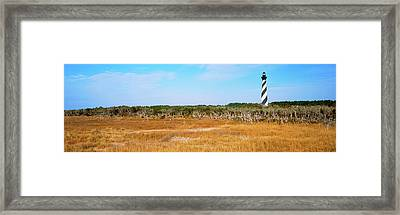 Lighthouse On The Coast, Cape Hatteras Framed Print by Panoramic Images