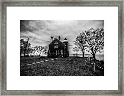 Lighthouse Put-in-bay Framed Print by Kevin Cable