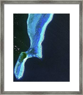 Lighthouse Reef And Belize Framed Print by Jaxa, Esa